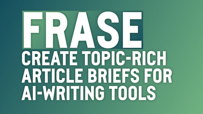 Create topic-rich article briefs in Frase