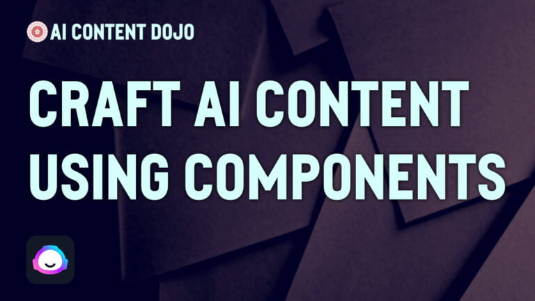Don't Ask for Complete Content; Craft it Using Components